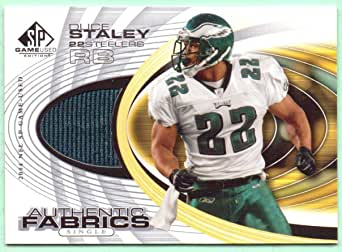 Amazon.com: Duce Staley 2004 SP Game Used Edition Authentic Fabric ...
