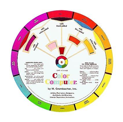 Amazon Grumbacher Computer Color Wheel 8 Dia Arts Crafts
