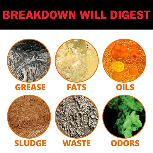 BREAKDOWN Bio Block Bacterial Enzyme Digestant for Grease Traps & Lift Stations - 4 x 2 lb Case
