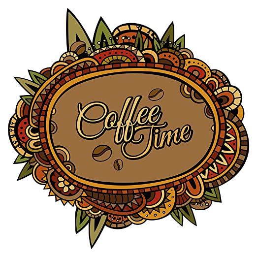 Wandtattoo Afrika Schriftzug Coffee time Muster Wandsticker ...