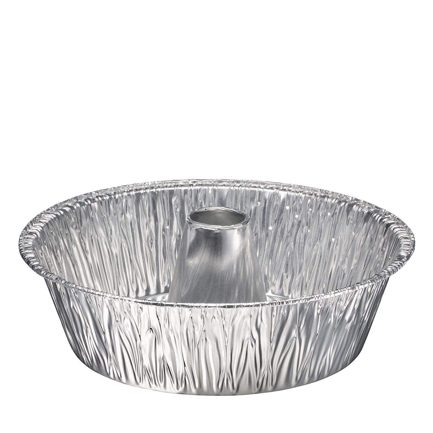 Disposable Round Cake Baking Pans - Aluminum Foil Bundt Tube Tin Great for Baking Decorative Display, Parties 8'' Round (50 Pans, 8-inch round)