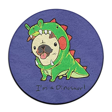 Iu0027m A Dinosaur Pug Round Floor Rug Doormats For Home Decorator Dining Room  Bedroom