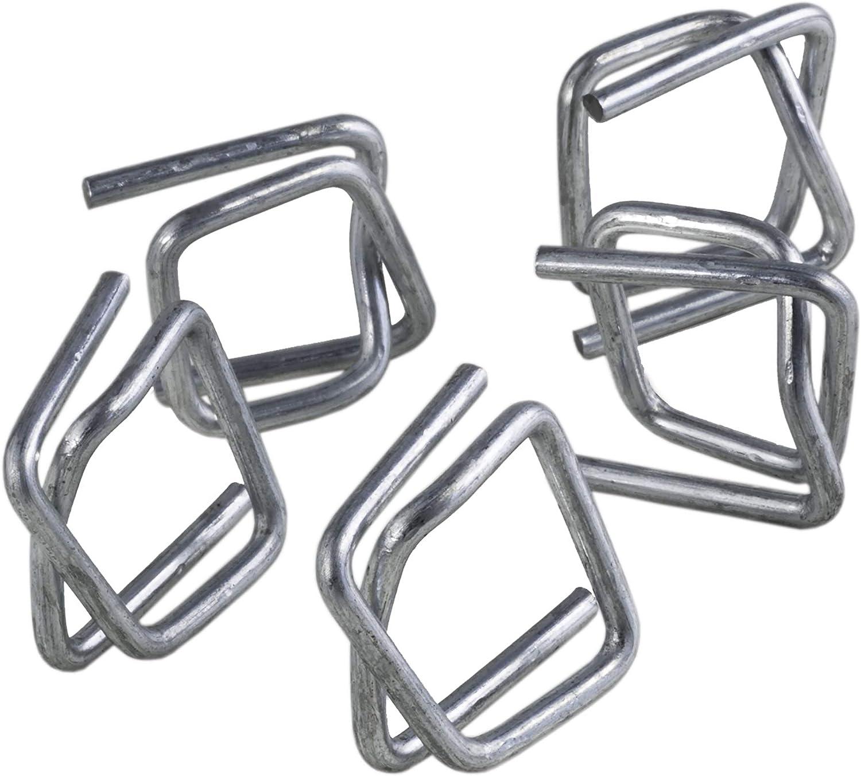 Hebilla de acero para flejado galvanizado PP CB4 1000 und