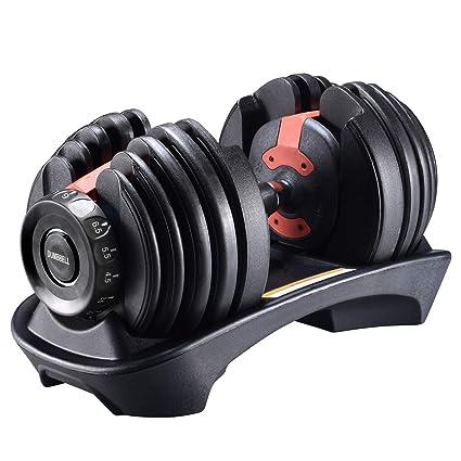 einstellbare Fitness Hanteln Gewichte Training Muskeltraining Bodybuilding Gewichte 2.5kg-24kg Single Kurzhanteln 01 VIPFAN Kurzhanteln Hanteln