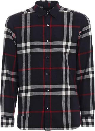 Burberry 4059129 Camisa de algodón Azul para Hombre - Azul - Talla de Marca L INT: Amazon.es: Ropa y accesorios