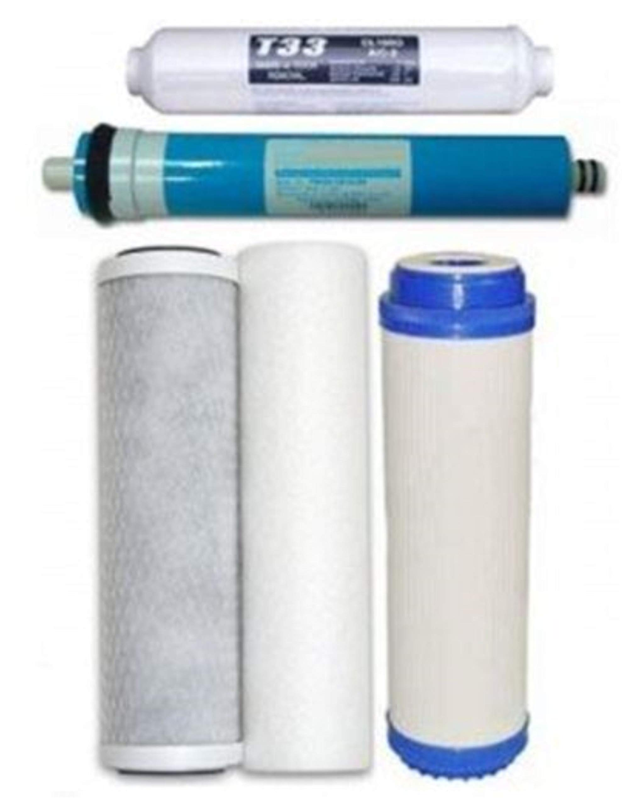 CFS Universal 5 stage Reverse Osmosis Replacement Filter set with 75 GPD membrane, HAGUE WATERMAX H5000 by CFS