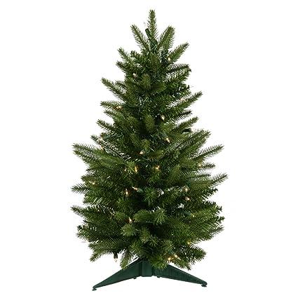 Amazon.com: Vickerman 2' Pre-Lit Frasier Fir Artificial Christmas ...