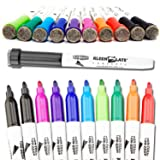 Kleenslate Concepts KLS6108 Multi-Color Dry Markers with Eraser Caps School Supplies, Assorted