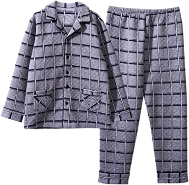 MEIXIA Ropa De Dormir Batas Camisón Pijamas De Hombre Algodón ...