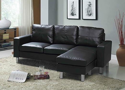Reino Unido stock) esquina en forma de L sofá de 3 plazas ...
