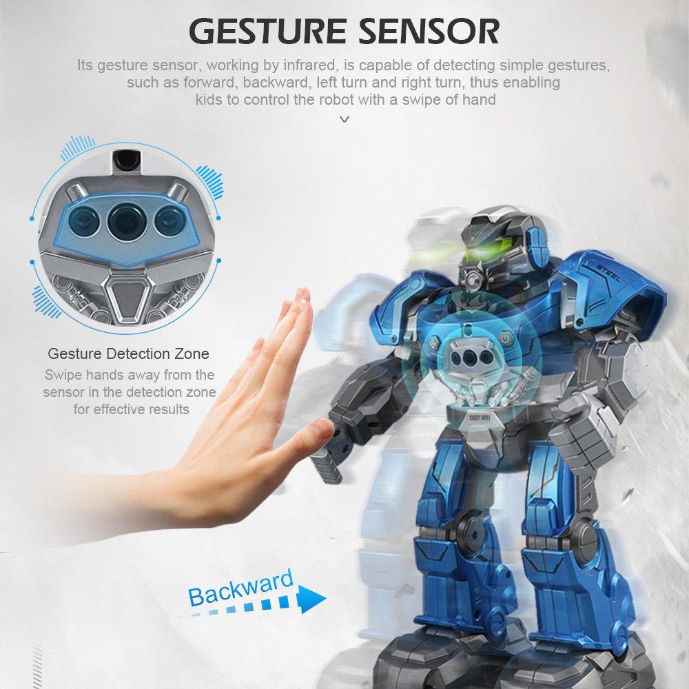 Goolsky JJRC R5 Cady Wiki Inteligente Robot de Control Remoto Programable Auto Seguir Gesture Sensor Música Danza de Juguete de Regalo para Niños: ...