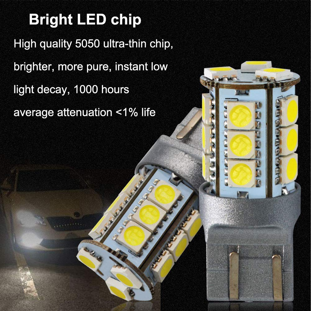 LncBoc T10 501 LED Bulbs W5W White 5-SMD 5050 LED 194 168 For Car Interior,Dashboard,Number Plate,Boot Sidelights Bulbs DC 12V one year warranty Pack of 10