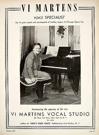 Amazon.com: 1948 Ad Vi Martens Vocal Studio Voice