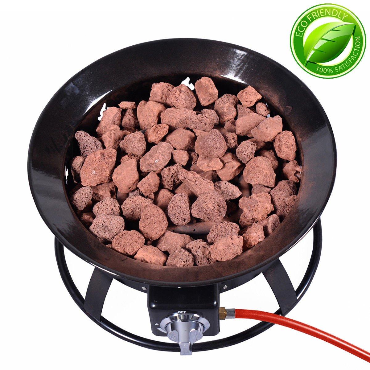 Outdoor Gas Fire Pit Steel Patio Heater Portable Firepit Garden Fireplace Bowl