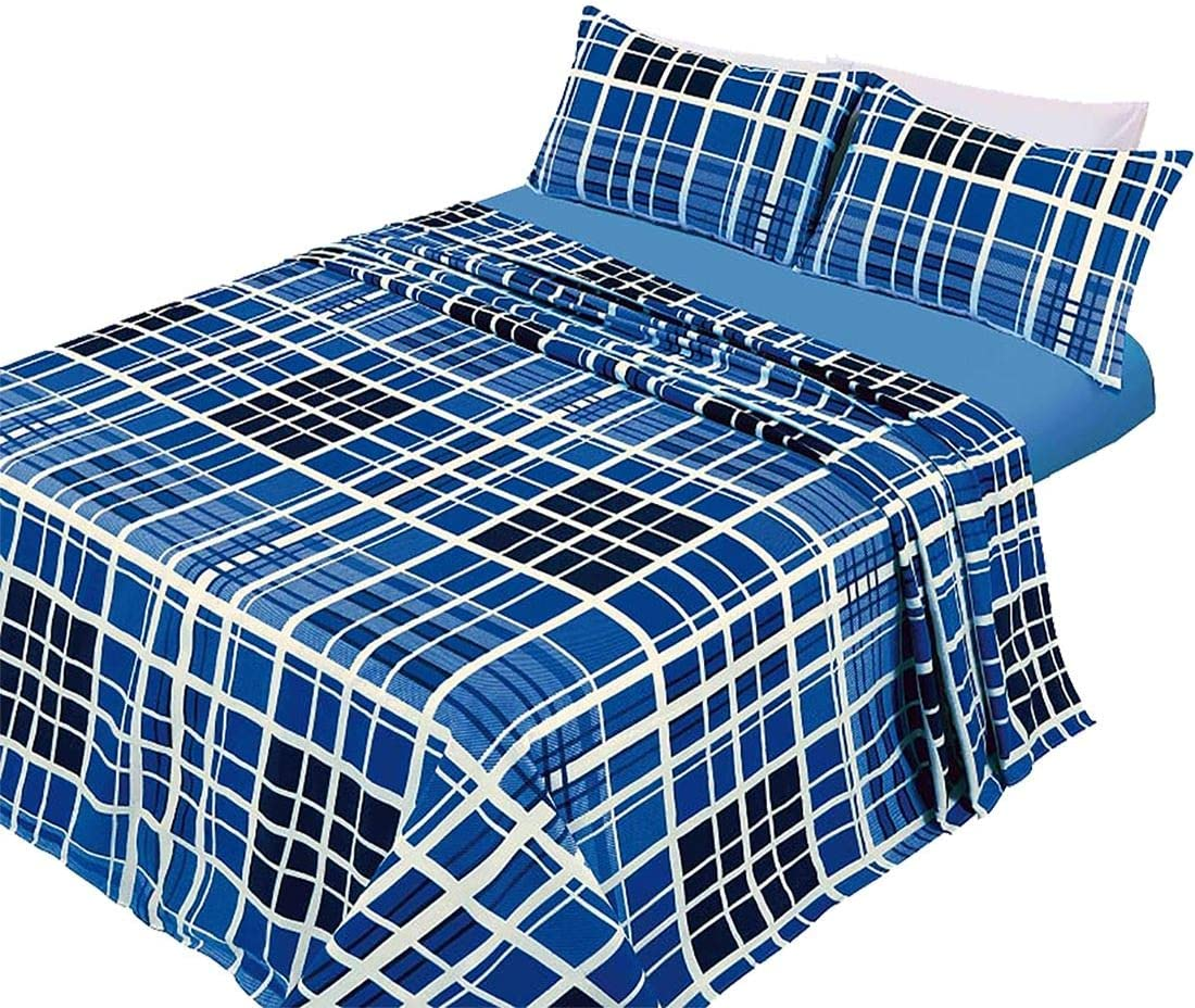 Thermal Flannelette Evan Check Duvet Cover Tartan Bedding Set With Pillow Cases