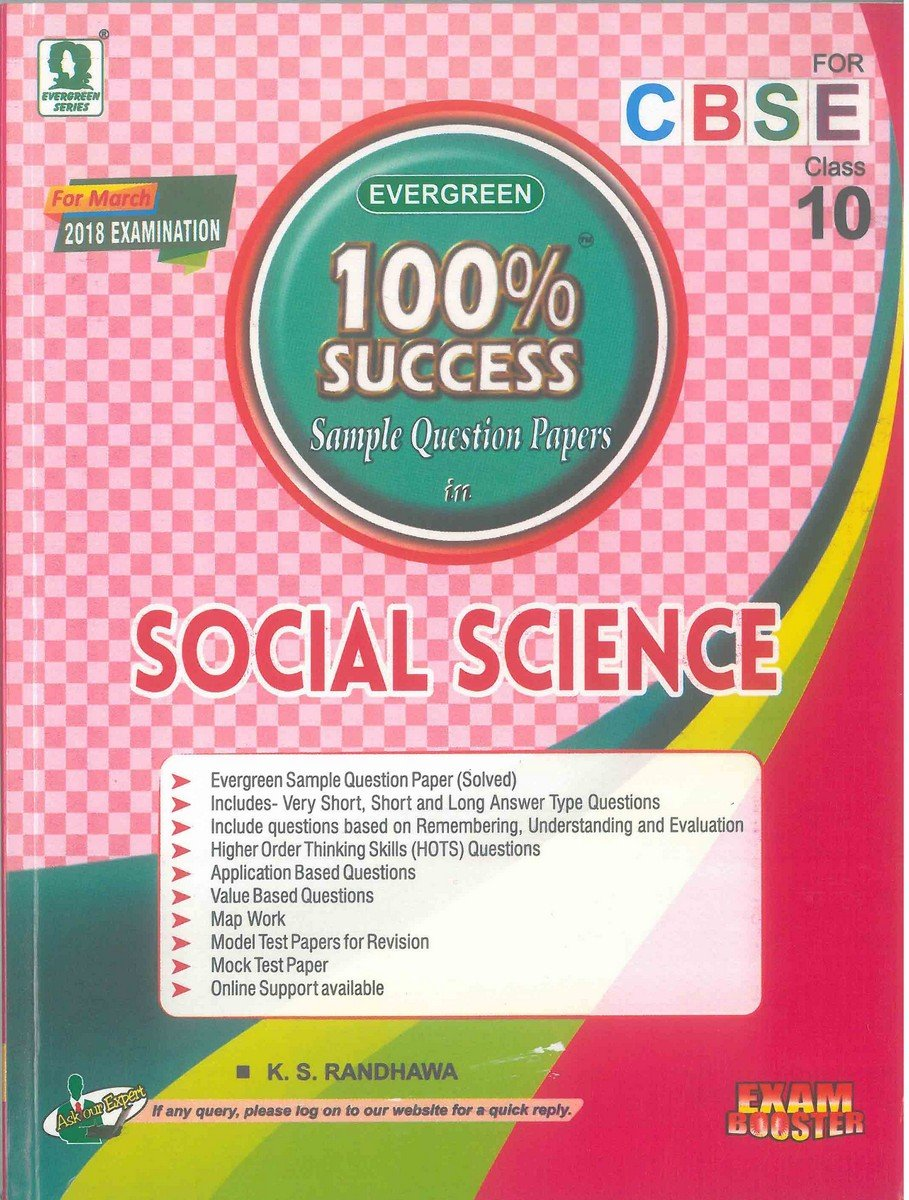 Evergreen 100% Success SQP in Social Science Class 10: Amazon.in: K S  Randhawa, Fr. Thomas Remigius: Books