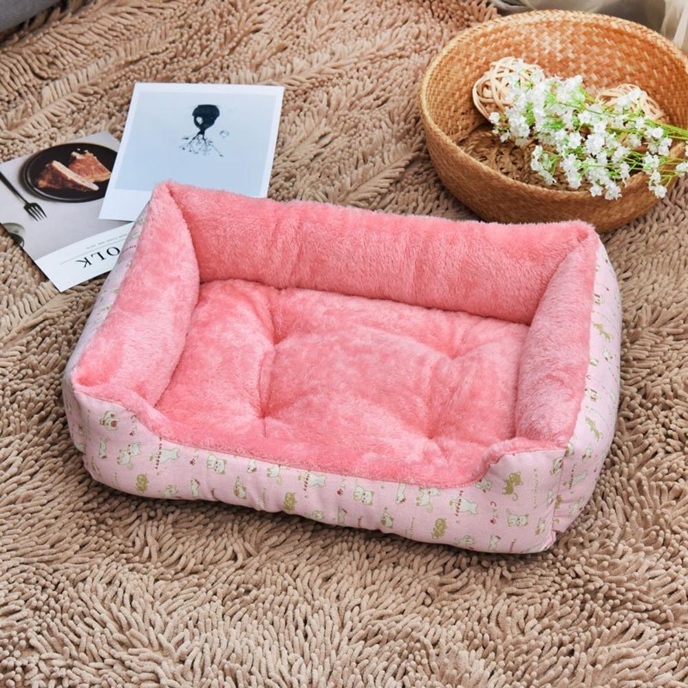 BiuTeFang Cestino per Cani Cuscino Gatto da Letto Tessuto chenil Cuccia Tappeto Pet lettiera Cane Materasso Animali