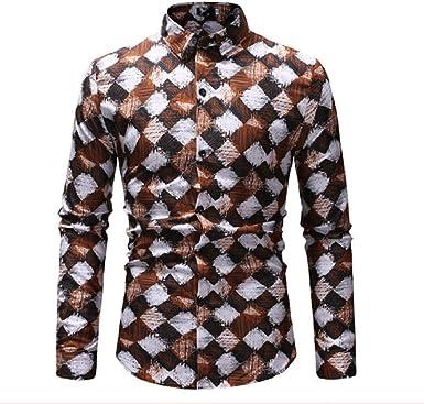 Camisa con Estampado a Cuadros de Moda para Hombres Nuevas ...