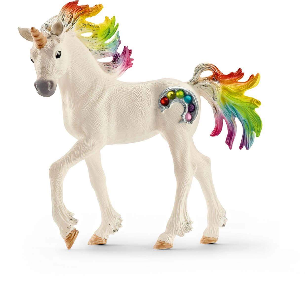 SCHLEICH bayala Rainbow Unicorn Toy Foal for Kids Ages 5-12 with Glitter and Rhinestones 3