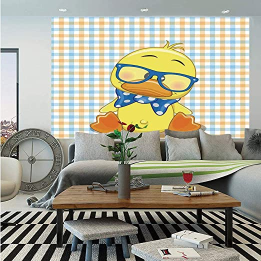 Amazon Com Cartoon Decor Wall Mural Hipster Boho Baby Duck With