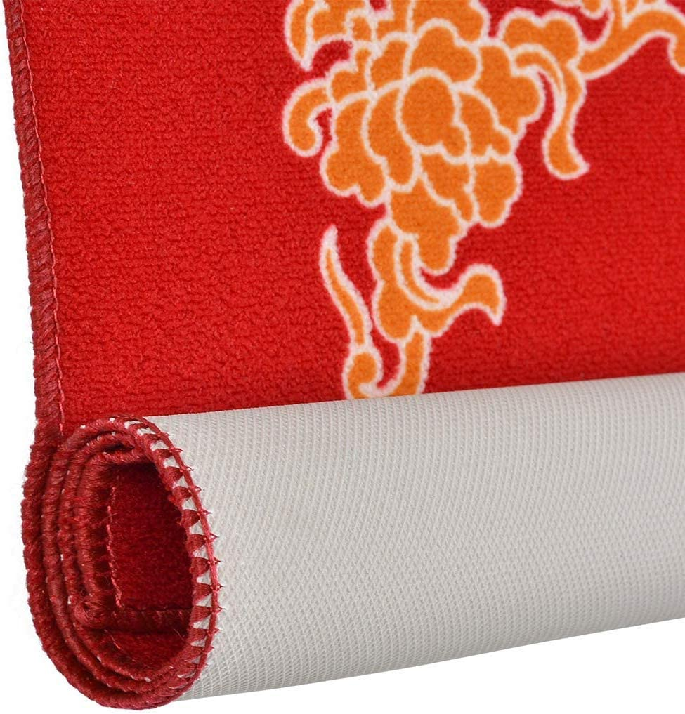 80Cm X 80Cm ,Red Table Cover for Universal Mahjong//Paigow//Poker//Dominos//Game Table Cover,Slip Resistant Mat 31.5 X 31.5