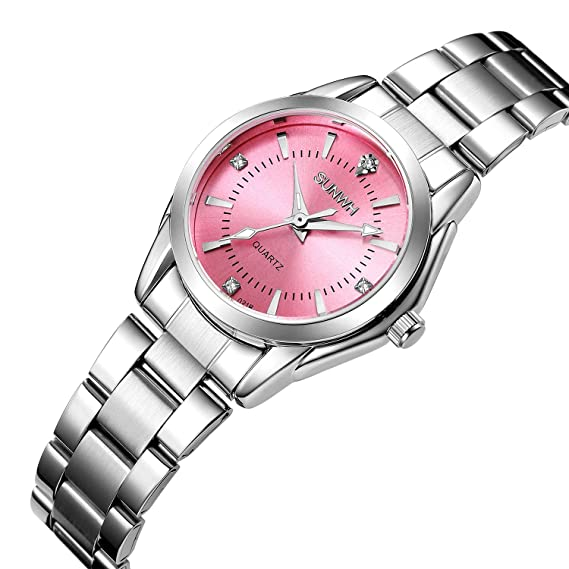 Womens Watches Gorgeous Luxury Dress Casual Fashion Waterproof Watches Diamond Rhinestone Quartz Wrist Watch-Pink