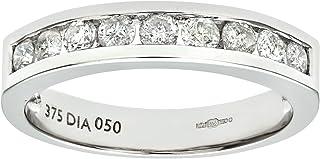 Naava 9ct White Gold Diamond Channel Set Eternity Ring
