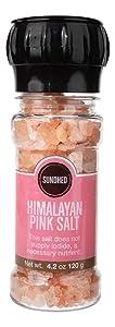 Sundhed Pink Himalayan Gourmet Salt (Course) in Grinder | 120 Grams (4.23 oz) | Natural Rock Salt for Seasoning | Keto Friendly and Kosher Certified