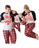USGreatgorgeous Papa Mama Kids Baby Bear Family Matching Christmas Pajamas Sets For The Family