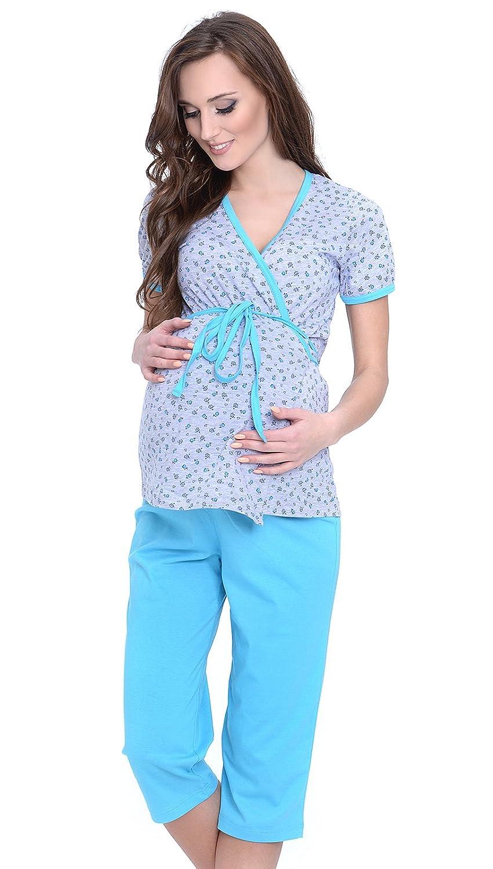 2 en 1 Maternité / allaitement 100% coton pyjama a 2 pieces 5001