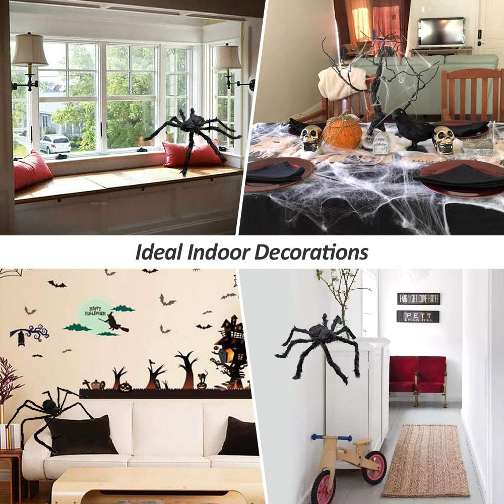 Amazon.com: Halloween Spider Web, 2 piezas (200
