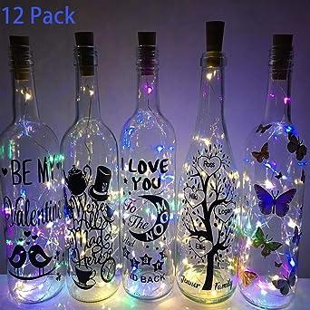 Luz de Botellas 12 Paquetes BIG HOUSE 2M 20 LEDs Alambre de Cobre Luces de Vino
