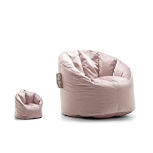 Big Joe Lux 0618306 Doll and Me Chair, Desert Rose Holland Velvet Bean Bag