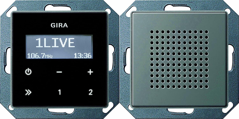 Gira 228020 Unterputz Radio RDS Gira E22 Edelstahl 5222053