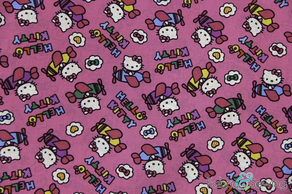 Hello Kitty - Tela de algodón con licencia (44 oz): Amazon.es ...