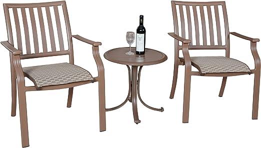 Panama Jack al Aire Libre Isla Breeze – Juego de Listones Juego de Muebles de Grupo, Incluye 2 sillones y mesita Auxiliar (Aluminio Rejilla de Mesa: Amazon.es: Jardín