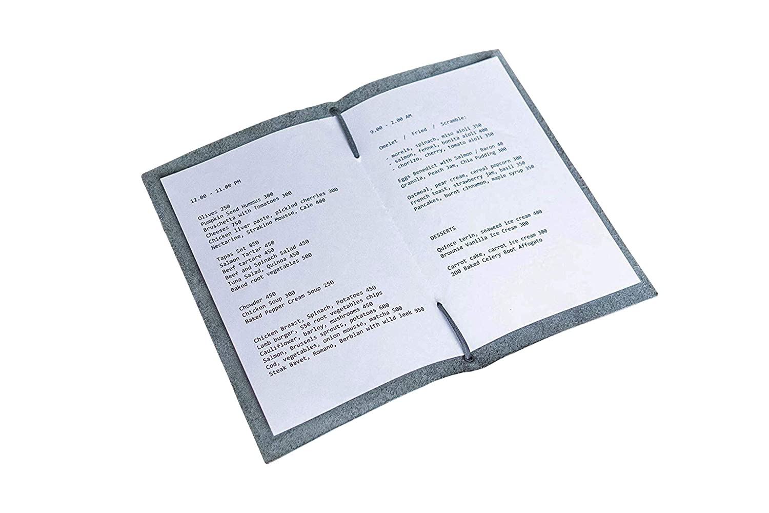 Details about  /CAFE BROWN FAUX LEATHER MENU COVER
