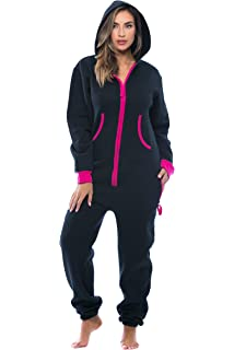 8a56bc3898e Amazon.com  SKYLINEWEARS Women s Ladies Onesie Hoodie Jumpsuit ...