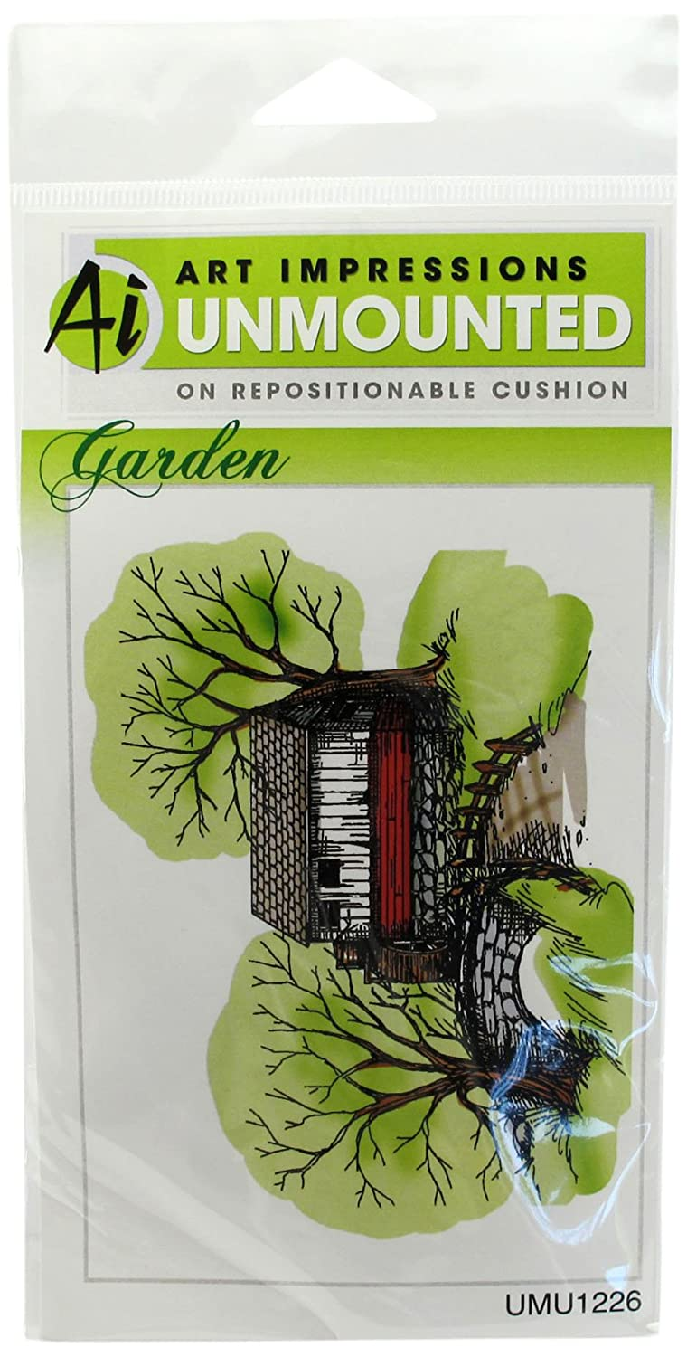 Art Impressions Gristmill Rubber Stamp