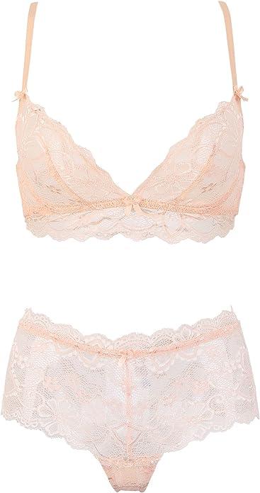 9396365c16c2f Varsbaby Women s Sexy See Through Transparent Push Up Bra Sheer Underwear  Sets