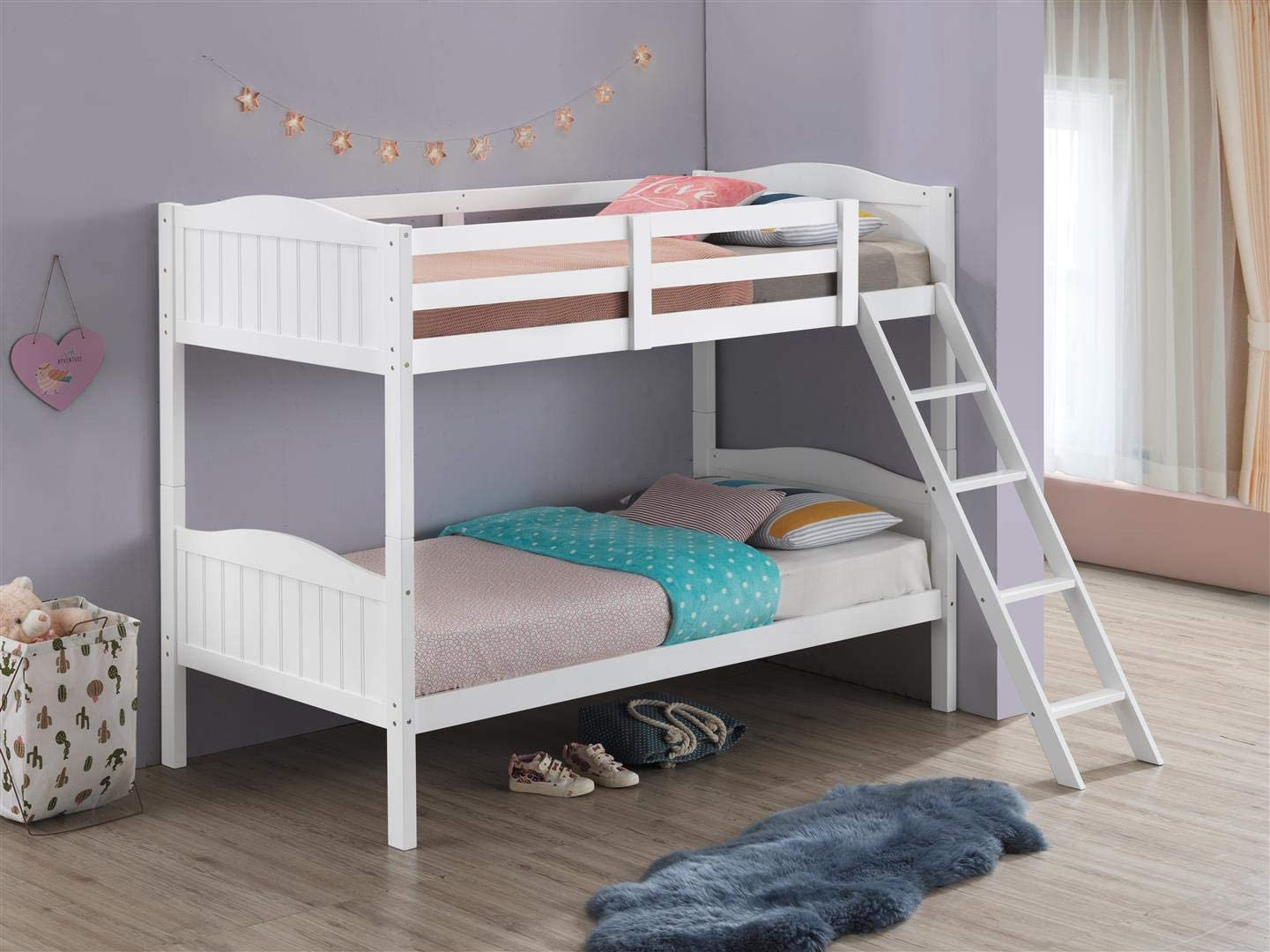 Coaster Home Furnishings Pauline Solid Wood Twin Over Twin Bunk Bed
