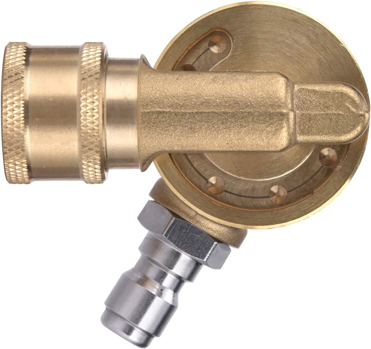 "New Pressure Washer Pivot Pivoting Coupler Attachment 1//4/"" Quick Connect"