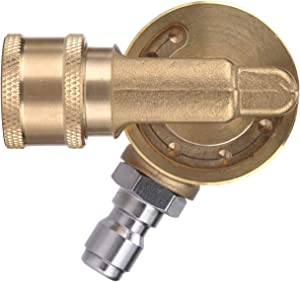 M MINGLE Gutter Cleaner Attachment, Pivoting Coupler for Pressure Washer Nozzle, 240 Degree Rotation, 1/4 Inch Quick Connect, 4500 PSI