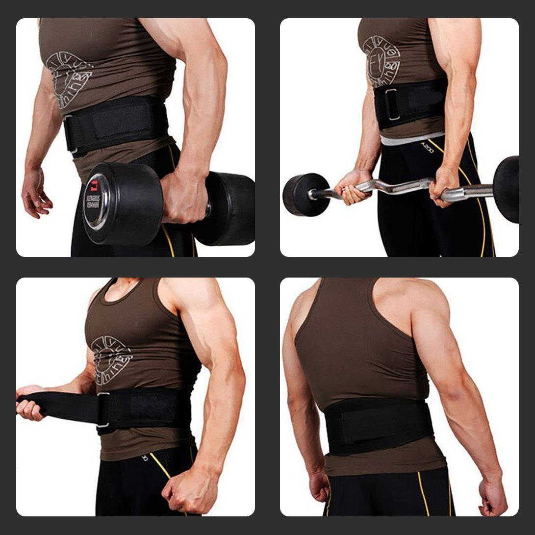 RitFit Weight Lifting Belt - Great for Squats, Clean, Lunges, Deadlift, Thrusters - Men and Women - 6 Inch - Multiple Color Choices - Firm & Comfortable Lumbar Support with Back Injury Protection by RitFit (Image #5)