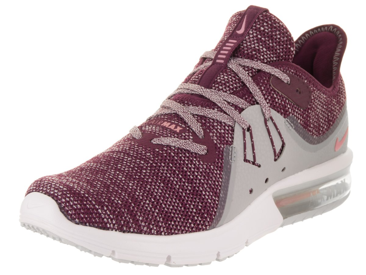 NIKE Women's Air Max Sequent 3 Running Shoe B06XV2N7G5 6.5 M US|Burgundy-grey-white