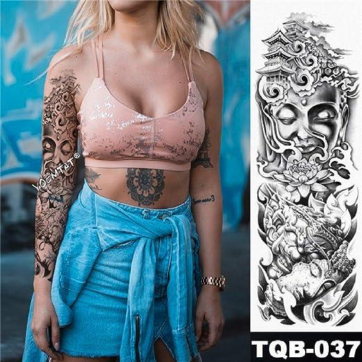 Handaxian 3pcsBig Arm Sleeve Tattoo Maori Power Totem Waterproof ...