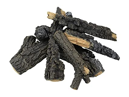 "24"" Charred Campfire Gas Fire Pit Log Set - Amazon.com: 24"
