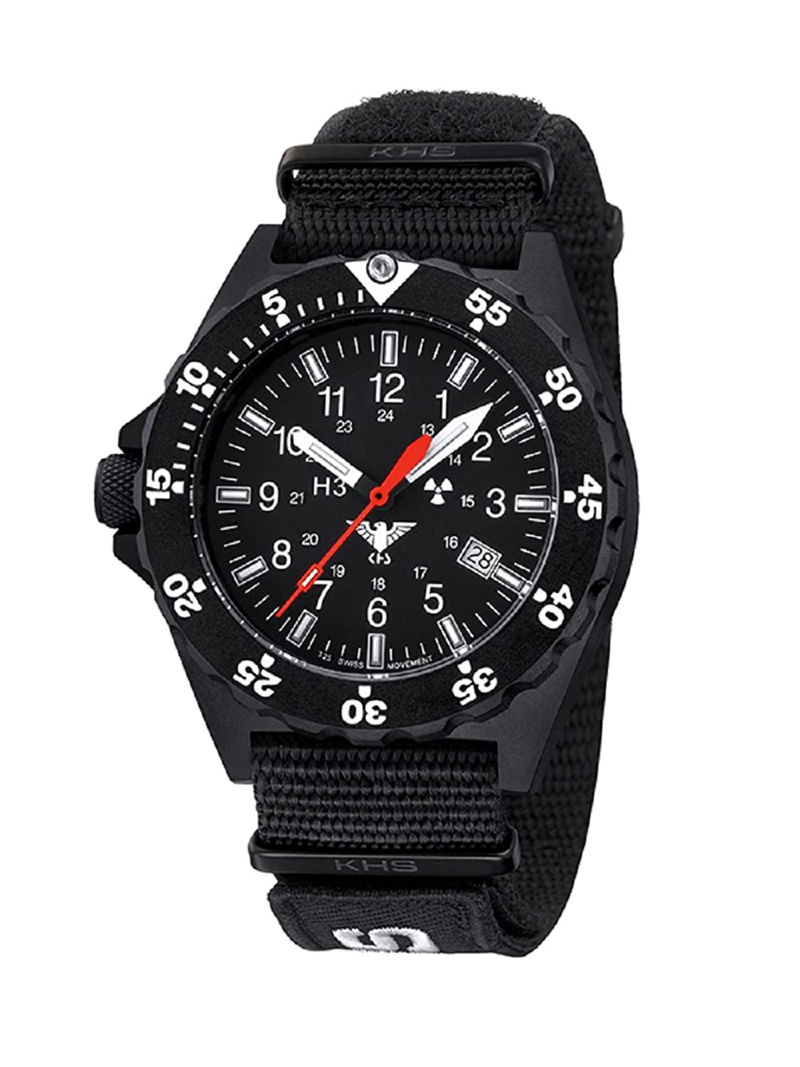 KHS Shooter KHS.SH.NXT7 Natoband schwarz inkl. Watch-Glass-Protection Schutzfolie