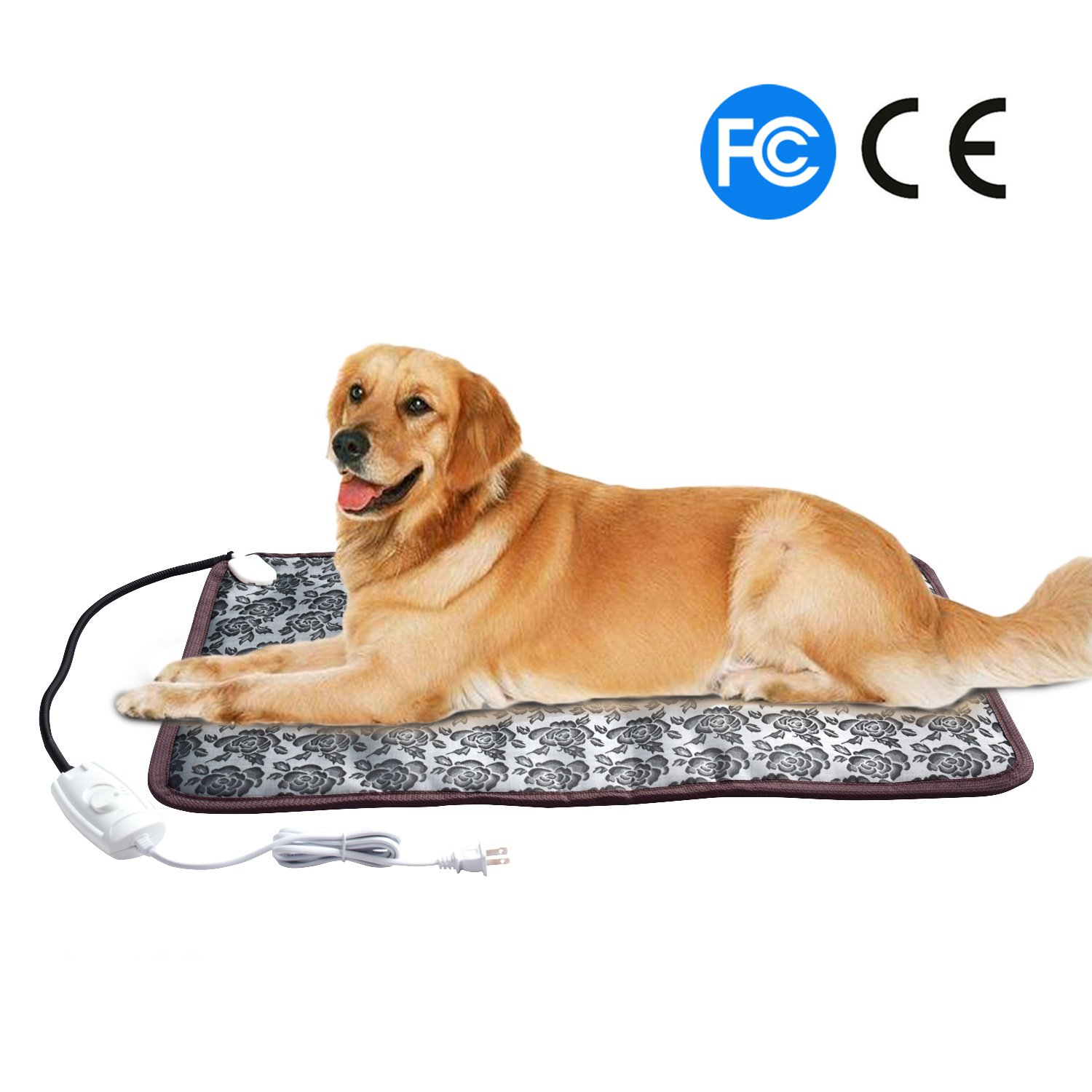 Pet Heat Pad For Cats Dogs ,Pet Electric Waterproof Heating Pad With Chew  Resistant Steel