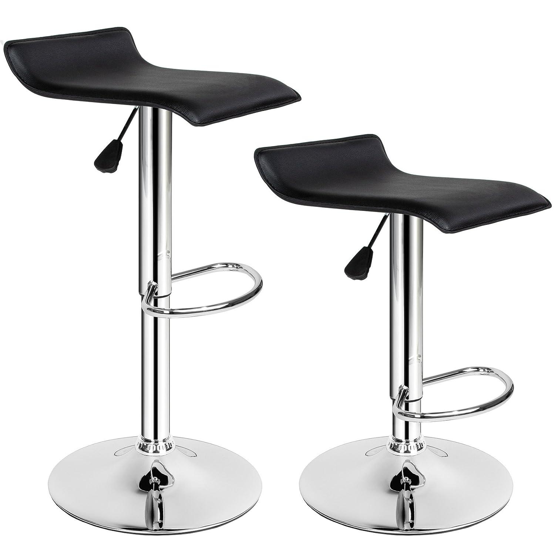 TecTake Sgabelli da bar moderni sgabello design cucina sedia regolabile - modelli differenti - (1xBernhard | no. 401573)